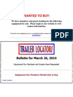 Wanted to Buy  - March 26, 2014