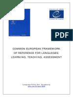 Common European Framework of Reference