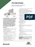 FirstAlert FA168CPS Data Sheet