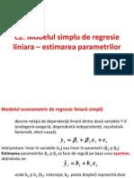 C2 Regresie Simpla - Estimare