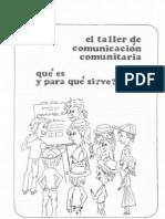 Taller de comunicación comunitaria