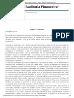 Apostila 01 _Auditoria Financeira_ - Artigos - Dinheiro - Administradores