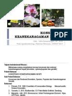 KONSERVASI & RESTORASI KEANEKARAGAMAN HAYATI