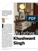 My Father Khushwant Singh