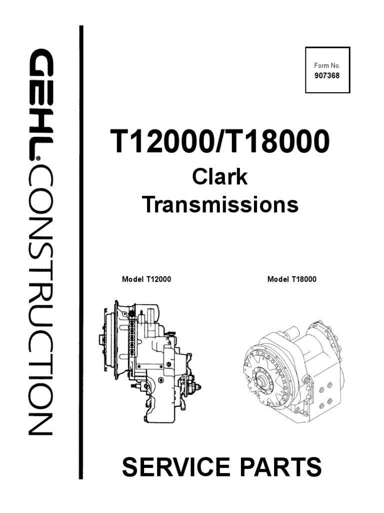 Telescopic Handler T12000 T18000 Clark Transmissions Parts