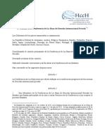 Estatuto de La Conferencia de La Haya de Derecho Internacional Privado