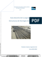 Guia docente.- Estructuras de hormigón armado.- UPCT 2013