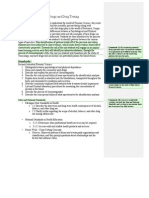 drugs and drug testing annotated
