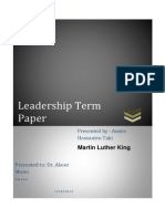 Martin Luther King- Term Paper