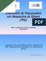 Elaboracion de Presup. Con Perspectiva de Genero, Angelica Pacheco