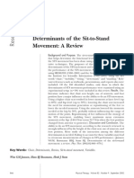 Determinants of the Sit-To-Stand Movement