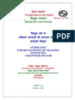 Guidelines Training Institutes
