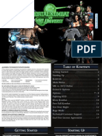 Mortal Kombat vs Dc Universe - Manual - PS3