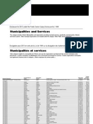 Ontario sunshine list: Municipalities and Services | Firefighter