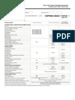 Plan Cipres Max 11013