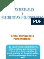 Citas Textuales o Parentéticas