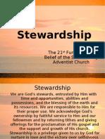 STEWARDSHIP - The 21st Fundamental Belief of the Seventh-day Adventist Church