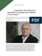 Pablo Gianera - Entrevista a Edgardo Cozarinsky.