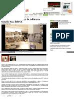 Inauguran segundo piso de la librería Octavio Paz, del FCE
