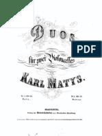 Matys - Duos for 2 Cellos Op53 Cello1