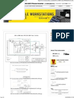 250 to 5000 Watts PWM DC_AC 220V Power Inverter | Power ...  W Power Inverter Schematic Diagram on