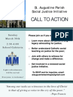 "St. Augustine Roman Catholic Church hosts Social Justice Ministry  ""Call to Action,"" Sunday, March 30, 2014"