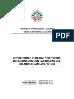 Ley de Obras Publicas y Servicios Relacionados Con Las Mismas SLP