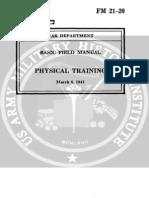 001958 FM 21-20 Basic Field Manual, Physical Training-1941