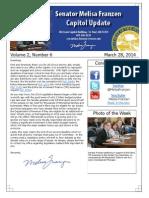 Senator Franzen's Capitol Update - Vol. 2, No. 6