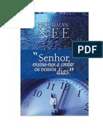 SENHOR, Ensina-nos a Contar Os Nossos Dias - Watchman Nee (Livreto)