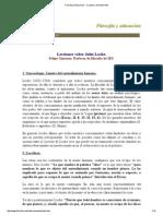 Filosofía y Educación - Cuaderno de Materiales
