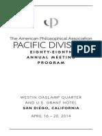 APA Pacific 2014 Meeting Program