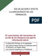 MECANISMOS DE ACCIÓN Y EFECTO FARMACOLÓGICO DE LOS