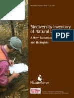 Biodiversity Inventory of Natural Landscapes Natureserve