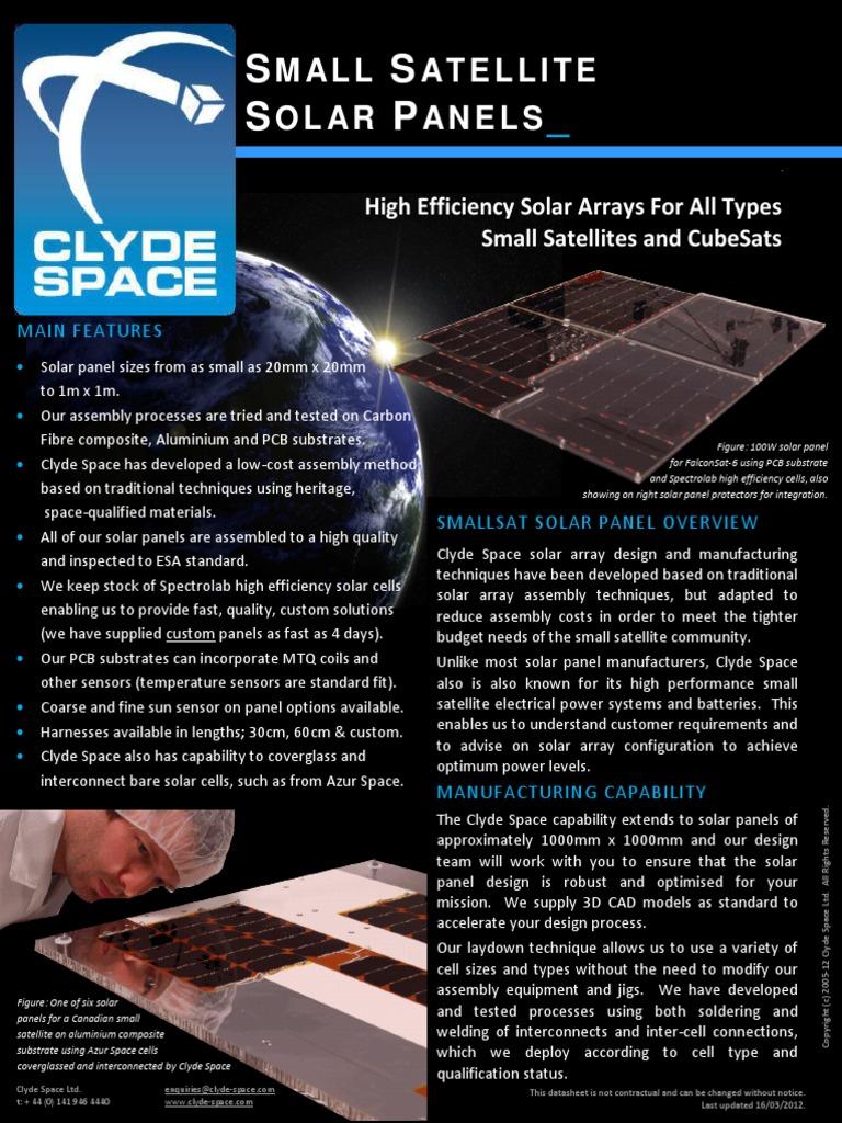 Solar Panel Datasheet | Solar Panel | Printed Circuit Board