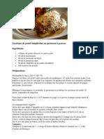 Escalopes de Poulet Simplissime Au Parmesan 4 Portions
