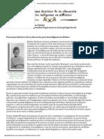 Panorama histórico de la educación para los indígenas en MX 15