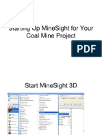 Starting Up MineSight for Your Coal Mine Project