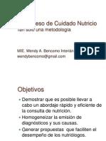 Proceso de Cuidado Nutricio 2014