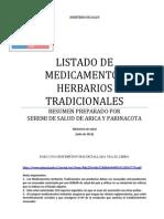 Listado Medicamentos Herbarios Tradicionales