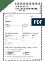 Carnet de Recherche 4e-3e