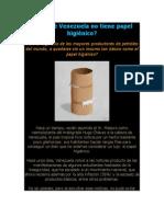 Por qué Venezuela no tiene papel higiénico