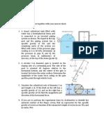 Sample Examination - Fluid Mechanics