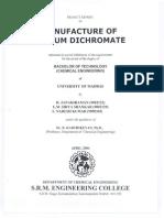 Manufacture of Sodium Dichromate