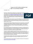 Significant Changes to the 2013 California Building Code Chapter 11B Accessibility Standards
