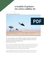 Arequipa tendr+í el primer aeropuerto c+¡vico militar de Per+¦