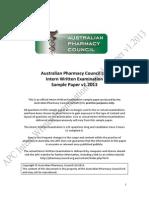 APC Intern Written Examination Practice Paper v1.2013