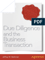 Due Diligence and the Business Transaction Getting a Deal Done