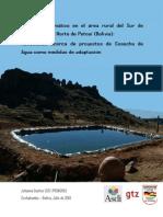 PROAGRO 2010 Cambio Climatico Adaptacion Cosecha de Agua Bolivia