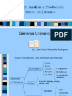 Diapositivas de Los Generos Literarios